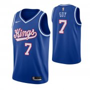 Wholesale Cheap Men's Sacramento Kings #7 Kyle Guy Blue 2019-20 Hardwood Classics Jersey