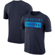 Wholesale Cheap Men's Los Angeles Chargers Nike Navy Sideline Legend Lift Performance T-Shirt