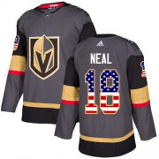 Wholesale Cheap Adidas Golden Knights #18 James Neal Grey Home Authentic USA Flag Stitched NHL Jersey