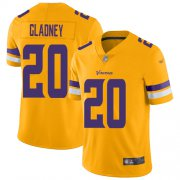 Wholesale Cheap Nike Vikings #20 Jeff Gladney Gold Men's Stitched NFL Limited Inverted Legend Jersey