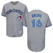 Wholesale Cheap Blue Jays #16 Freddy Galvis Grey Flexbase Authentic Collection Stitched MLB Jersey