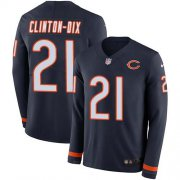 Wholesale Cheap Men's Bears #21 Ha Ha Clinton-Dix Navy Blue Team Color Men's Stitched NFL Limited Therma Long Sleeve Jersey