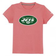 Wholesale Cheap New York Jets Authentic Logo Youth T-Shirt Pink