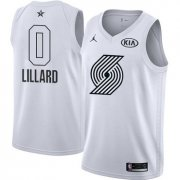 Wholesale Cheap Nike Blazers #0 Damian Lillard White NBA Jordan Swingman 2018 All-Star Game Jersey