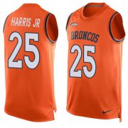 Wholesale Cheap Nike Broncos #25 Chris Harris Jr Orange Team Color Men's Stitched NFL Limited Tank Top Jersey