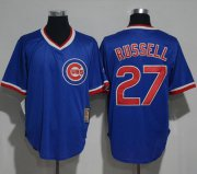 Wholesale Cheap Cubs #27 Addison Russell Blue Cooperstown Stitched MLB Jersey