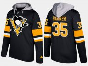 Wholesale Cheap Penguins #35 Tom Barrasso Black Name And Number Hoodie