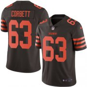 Wholesale Cheap Nike Browns #63 Austin Corbett Brown Men's Stitched NFL Limited Rush Jersey