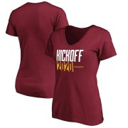 Wholesale Cheap Washington Redskins Football Team Fanatics Branded Women's Kickoff 2020 V-Neck T-Shirt Burgundy