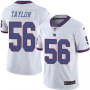 Wholesale Cheap Nike Giants #56 Lawrence Taylor White Men's Stitched NFL Limited Rush Jersey