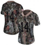 Wholesale Cheap Nike Patriots #14 Mohamed Sanu Sr Camo Women's Stitched NFL Limited Rush Realtree Jersey