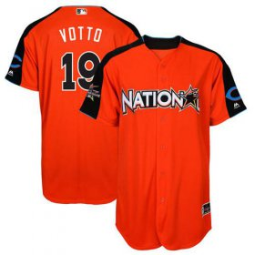 Wholesale Cheap Reds #19 Joey Votto Orange 2017 All-Star National League Stitched MLB Jersey