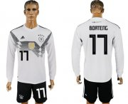 Wholesale Cheap Germany #17 Boateng White Home Long Sleeves Soccer Country Jersey