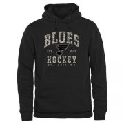 Wholesale Cheap Men's St. Louis Blues Black Camo Stack Pullover Hoodie