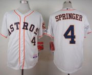 Wholesale Cheap Astros #4 George Springer White Cool Base Stitched MLB Jersey