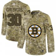 Wholesale Cheap Adidas Bruins #30 Gerry Cheevers Camo Authentic Stitched NHL Jersey