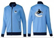 Wholesale Cheap NHL Vancouver Canucks Zip Jackets Light Blue