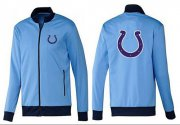 Wholesale NFL Indianapolis Colts Team Logo Jacket Light Blue_1