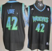 Wholesale Cheap Minnesota Timberwolves #42 Kevin Love Vibe Black Fashion Jersey