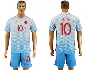 Wholesale Cheap Turkey #10 Turan Away Soccer Country Jersey