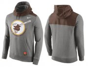 Wholesale Cheap Men's San Diego Padres Nike Gray Cooperstown Collection Hybrid Pullover Hoodie