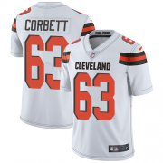 Wholesale Cheap Nike Browns #63 Austin Corbett White Men's Stitched NFL Vapor Untouchable Limited Jersey