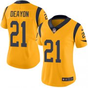 Wholesale Cheap Nike Rams #21 Donte Deayon Gold Women's Stitched NFL Limited Rush Jersey