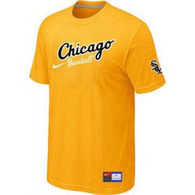 Wholesale Cheap Chicago White Sox Nike Away Practice MLB T-Shirt Yellow