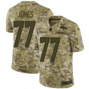 Wholesale Cheap Nike Broncos #77 Sam Jones Camo Men's Stitched NFL Limited 2018 Salute To Service Jersey