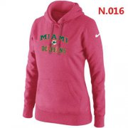 Wholesale Women's Nike Miami Dolphins Heart & Soul Pullover Hoodie Pink