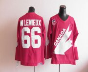 Wholesale Cheap Olympic 1991 CA. #66 Mario Lemieux Red CCM Throwback Stitched NHL Jersey