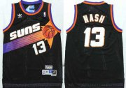 Wholesale Cheap Men's Phoenix Suns #13 Steve Nash Black Hardwood Classics Soul Swingman Throwback Jersey