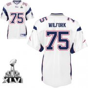 Wholesale Cheap Patriots #75 Vince Wilfork White Super Bowl XLVI Embroidered NFL Jersey