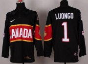 Wholesale Cheap Olympic 2014 CA. #1 Roberto Luongo Black Stitched NHL Jersey