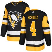 Wholesale Cheap Adidas Penguins #4 Justin Schultz Black Home Authentic Stitched NHL Jersey