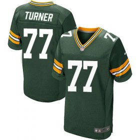 Wholesale Cheap Nike Packers #77 Billy Turner Green Team Color Men\'s Stitched NFL Elite Jersey