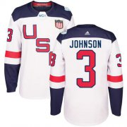 Wholesale Cheap Team USA #3 Jack Johnson White 2016 World Cup Stitched Youth NHL Jersey