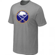 Wholesale Cheap Buffalo Sabres Big & Tall Logo Grey NHL T-Shirt