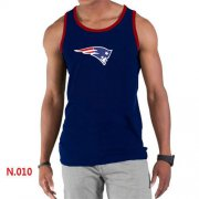 Wholesale Cheap Men's Nike NFL New England Patriots Sideline Legend Authentic Logo Tank Top Dark Blue_2