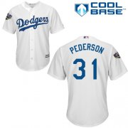 Wholesale Cheap Dodgers #31 Joc Pederson White Cool Base 2018 World Series Stitched Youth MLB Jersey