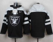 Wholesale Cheap Nike Raiders Blank Black Player Pullover NFL Hoodie