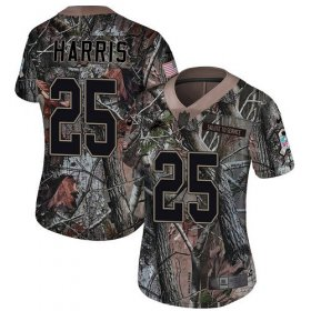 Wholesale Cheap Nike Lions #25 Will Harris Camo Women\'s Stitched NFL Limited Rush Realtree Jersey