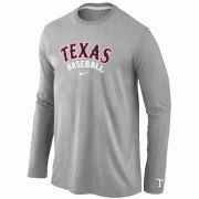 Wholesale Cheap Texas Rangers Long Sleeve MLB T-Shirt Grey