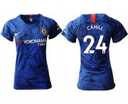 Wholesale Cheap Women's Chelsea #24 Cahill Home Soccer Club Jersey