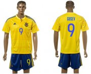 Wholesale Cheap Ukraine #9 Gusev Home Soccer Country Jersey