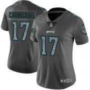 Wholesale Cheap Nike Eagles #17 Harold Carmichael Gray Static Women's Stitched NFL Vapor Untouchable Limited Jersey