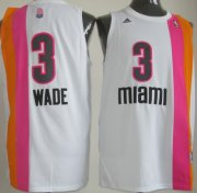 Wholesale Cheap Miami Floridians #3 Dwyane Wade ABA Hardwood Classic Swingman White No Holes Jersey