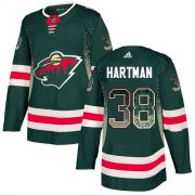 Wholesale Cheap Adidas Wild #38 Ryan Hartman Green Home Authentic Drift Fashion Stitched NHL Jersey