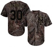 Wholesale Cheap Mets #30 Michael Conforto Camo Realtree Collection Cool Base Stitched Youth MLB Jersey