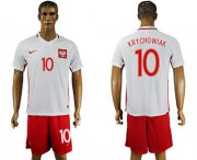 Wholesale Cheap Poland #10 Krychowiak Home Soccer Country Jersey